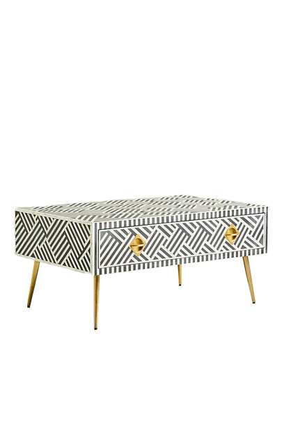 Bone inlay Drawer coffee table