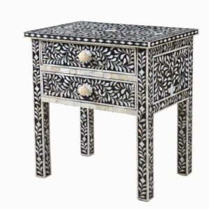 Bone inlay Nightstand