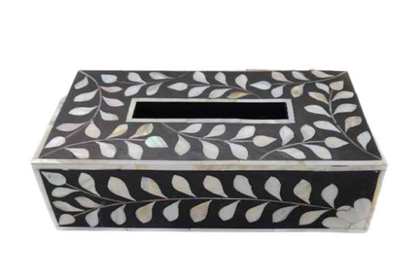 Mother of Inlay Tissue Box