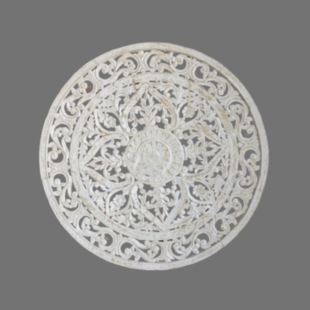 Floral carved wall panels