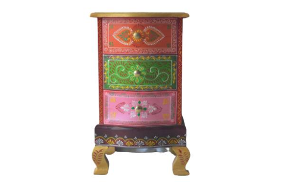 Hand Painted Bedside Table