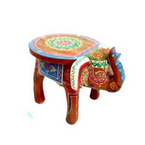 Wooden Elephant Stool