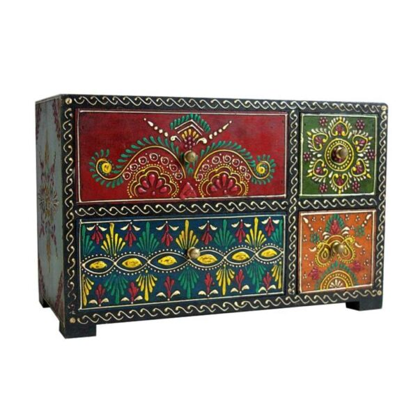Hand Painted 4 drawer chest