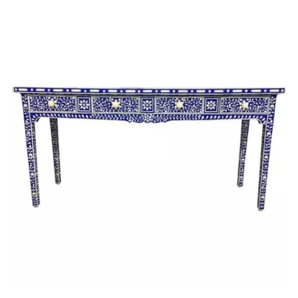 Bone Inlay Floral Console Table