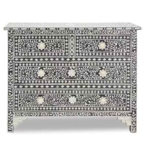 Floral Bone Inlay Chest