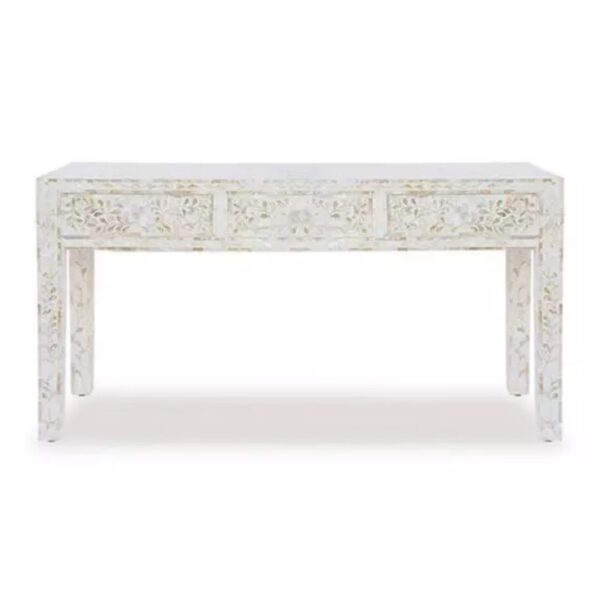 Mother Of Pearl Floral Console Table