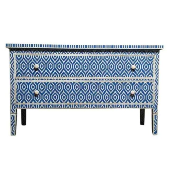 Bone Inlay Moroccan Chest