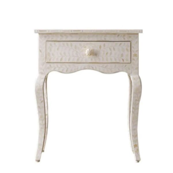 Bone Inlay Provincial Bedside Table