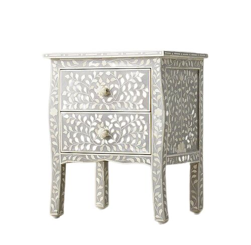 Bone inlay french Provincial Bedside table