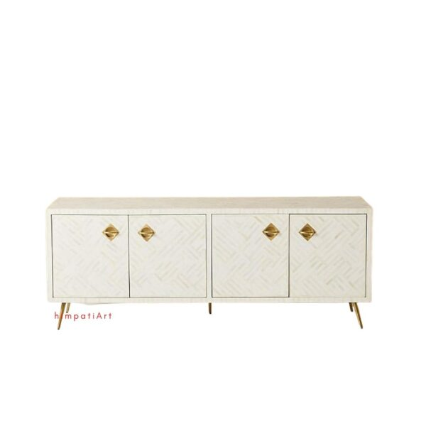 Bone inlay Optical Media Console white