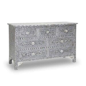 Mother of Pearl inlay chest of 7 Drawers