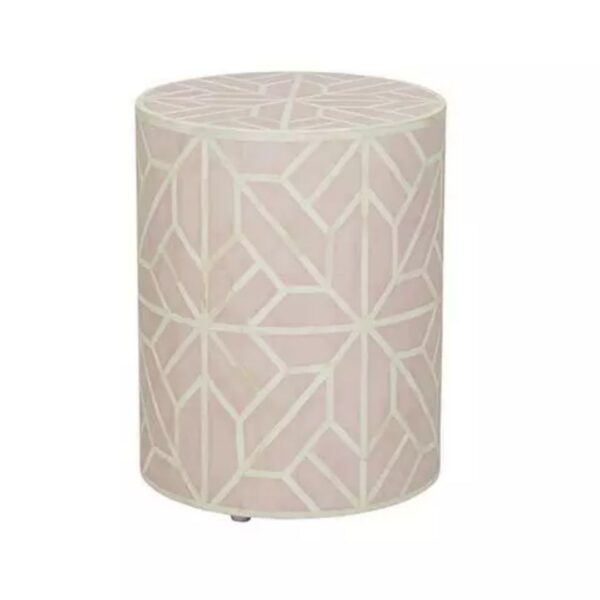 bone inlay abstract side table