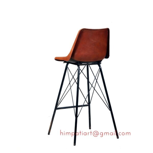 Himpati Leather Bar chair