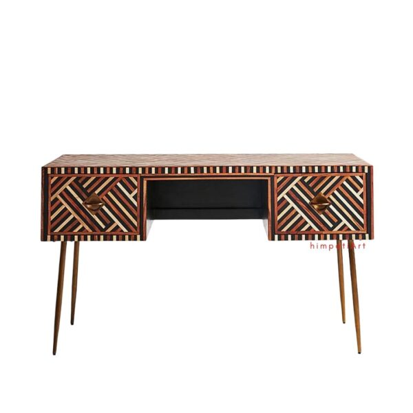 Bone inlay laptop table