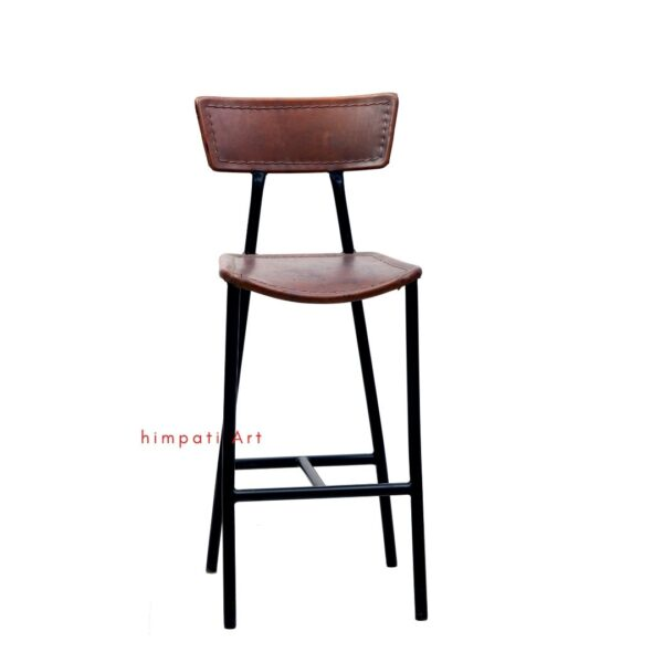 Leather Pub counter stool