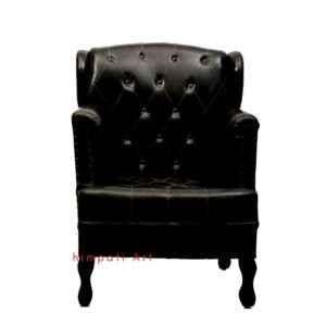 Black Leather Sofa Chair