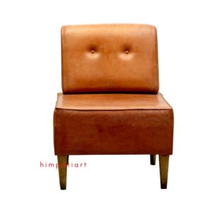 Brown Genuine Leather Sofa Chair