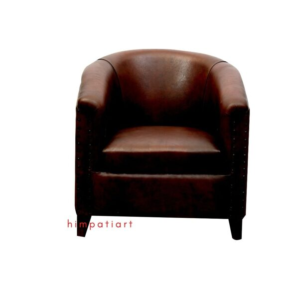 Leather sofa single seat