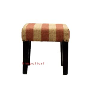 Rug upholstered stool