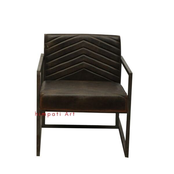 Metal leather sofa chair